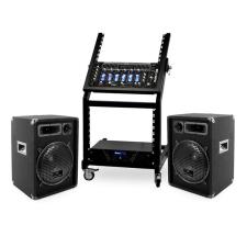 Electronic-Star DJ PA Set Rack Star Series Mercury Beat Bluetooth 250 Personen hangfal