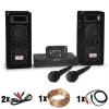 Electronic-Star DJ - PA szett DJ–24M, erosíto, kevero, hangfalak, mik, 1200W