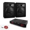Electronic-Star Malone Bluetooth SPL hangfalszett, erősítő, 2 x 38 cm hangfal