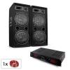 Electronic-Star Malone SPL Bluetooth MP3 hangfalszett, 2 x 12 hangfalpár, erősítő