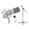 Electronic-Star Set kondenzátor mikrofon, mikrofonállvány és Popfilter Power Dynamics