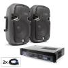 Electronic-Star SPJ Boom hangfalszett, 2 x 8 collos hangfal, erősítő