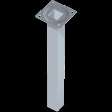 Element System ACÉLCSŐLÁB 10X25X25CM FEHÉR-ALU bútor