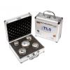 EMIKOO TLS lyukfúró készlet 27-32-38-43-51 mm - alumínium koffer