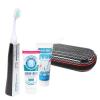 Emmi Ultrasonic GmbH Emmi-dent Platinum ultrahangos fogkefe carbon szett - Fresh és Whitening fogkrémek + utazótáska