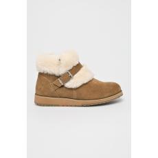 EMU Australia - Magasszárú cipő Oxley Fur Cuff - sötét barna - 1390549-sötét barna