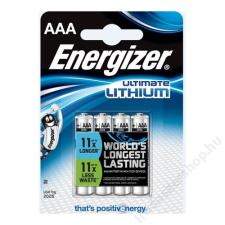 ENERGIZER Elem, AAA mikro, 4 db, Lítium, ENERGIZER Ultimate Lithium (EEAAA4L) ceruzaelem