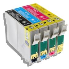 Epson T0715 (T0711 T0712 T0713 T0714) 4*19ml tintával festékpatron csomag - utángyártott PQ nyomtatópatron & toner