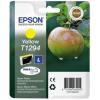 Epson T12944011 Tintapatron Stylus SX420W, SX425W, SX525WD nyomtatókhoz, EPSON sárga, 7ml