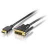 Equip 119325 hdmi - dvi 5m aranyozott kábel