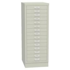 Esk egysoros fém A3-as irattartó szekrény, 15 fiók, szÜrke irattartó