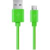 Esperanza USB 2.0 A - USB 2.0 micro B M/M adatkábel 1.8m zöld