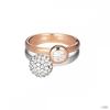 Esprit Női gyűrű ezüst kétszínű cirkónia dupla embrance ESRG92396A1 57 (18.1 mm Ă?)