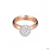Esprit Női gyűrű ezüst RosĂŠgold cirkónia Glam sphere rózsa ESRG92309B1 54 (17.2 mm Ă?)