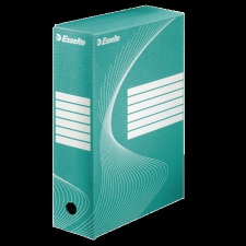 """ESSELTE Archiváló doboz, A4, 100 mm, karton, ESSELTE """"Boxycolor"""", zöld irattartó"""