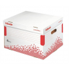 """ESSELTE Archiváló konténer, újrahasznosított karton, felfelé nyíló,  """"Speedbox"""", fehér"""