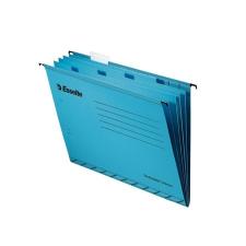 """ESSELTE Függőmappa, újrahasznosított karton, A4, elválasztólapokkal,  """"Classic"""", kék mappa"""