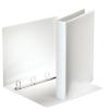 ESSELTE Gyűrűs könyv, panorámás, 4 gyűrű, D alakú, 40 mm, A4, PP/PP, , fehér