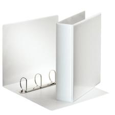ESSELTE Gyűrűs könyv, panorámás, 4 gyűrű, D alakú, 75 mm, A4, PP/PP, , fehér mappa