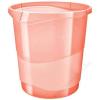 ESSELTE Papírkosár, 14 liter, ESSELTE Colour` Ice, áttetsző barack (E626288)