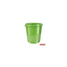 ESSELTE Papírkosár, 14 liter, ESSELTE Europost, Vivida zöld szemetes