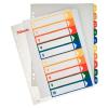 ESSELTE Regiszter, műanyag, A4 Maxi, 1-10, nyomtatható, , áttetsző