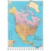Észak-Amerika politikai falitérkép - Kümmerly+Frey