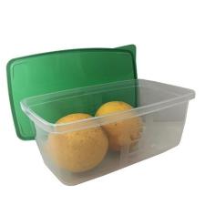 . Ételtartó doboz+fedő, szögletes, műa, 3db-os szett, 0,8l (méret: 174 x 115 x 70 mm) konyhai eszköz