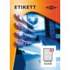 Etikett címke pd 38.1x21.2 szegéllyel 6500 db/doboz