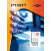 Etikett címke pd 63.5x38.1 szegéllyel 2100 db/doboz