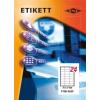 Etikett címke pd 70x37 szegély nélkül 2400 db/doboz