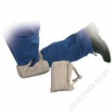 Euro Protection Térdvédő bőrből, szivacsbéléssel, csatos pánttal