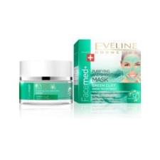 Eveline facemed tisztitó és bőrkisimitó arcmaszk zöld agyaggal és zöld tea kivonattal 50ml arcpakolás, arcmaszk