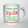Évszámos bögre 33, 1982.