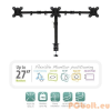 "Ewent EW1513 Desk Mount for 3 monitors up to 27"" with VESA"