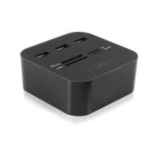 Ewent USB 2.0 Card Reader with 3 port hub table mo kártyaolvasó