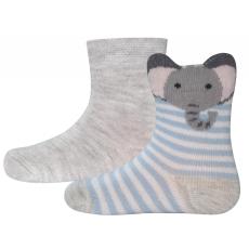 EWERS két páros zokni szett gyerekeknek 18 - 19 szürke