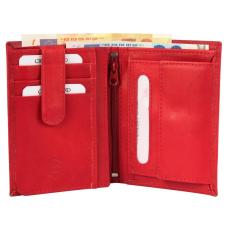 Excellanc Valódi Bőr Uniszex Pénztárca (12,5x9), pirosas bordó, Excellanc