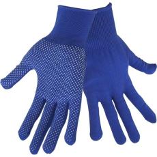 EXTOL kötött kesztyű, kék, PE, fehér PVC pöttyökkel, méret: 9\´