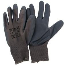 Extol Kötött kesztyű szürke nylon, méret: 10` nitrilbe mártott teny. és ujjhegy (Kesztyű)