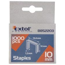 Extol Tűzőgépkapocs profi (10,6×0,52×1,2mm) ; 10mm, 1000db (Kapcsok) gemkapocs, tűzőkapocs