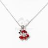 Ezüst bevonatos pillangó medálos nyaklánc piros kövekkel jwr-1412
