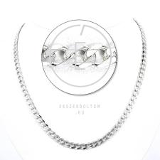 Ezüst hatlapú 120-as Pancer lánc nyaklánc
