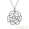 Ezüst rózsa nyaklánc