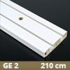 Fa betétes műanyag karnis (GE2) - 2 soros - 210 cm