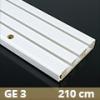 Fa betétes műanyag karnis (GE3) - 3 soros - 210 cm