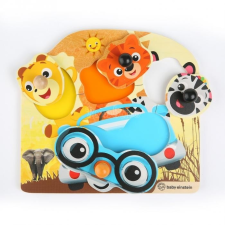 Fa Puzzle Barátságos szafari állatkák puzzle, kirakós