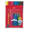 Faber-Castell Rostirón készlet háromszögletű Grip 10 különböző szín
