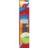 """Faber-Castell Színes ceruza készlet, háromszögletû, FABER-CASTELL """"Grip 2001"""", 6 különbözõ szín"""