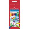 """Faber-Castell Színes ceruza készlet, háromszögletû, FABER-CASTELL """"Papagáj"""", 12 különbözõ szín"""